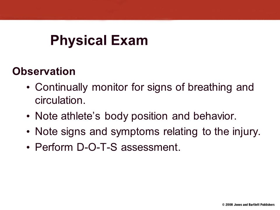Physical Exam Observation
