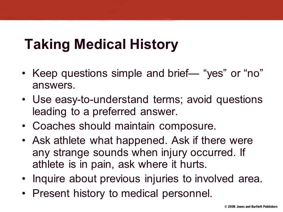 Taking Medical History