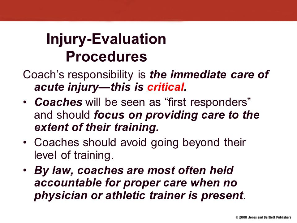 Injury-Evaluation Procedures