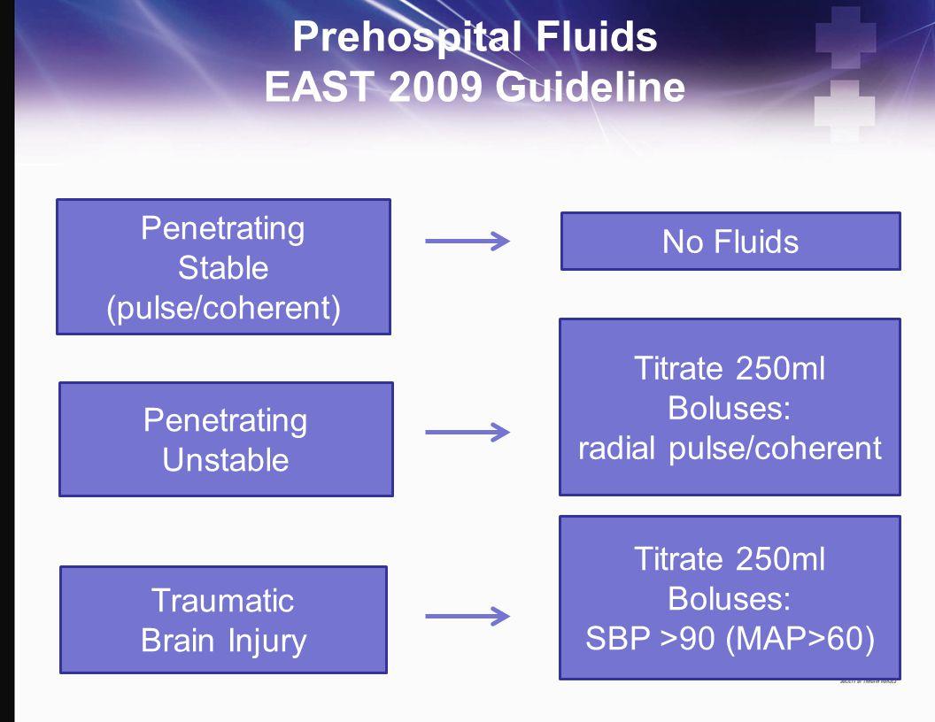 Prehospital Fluids EAST 2009 Guideline