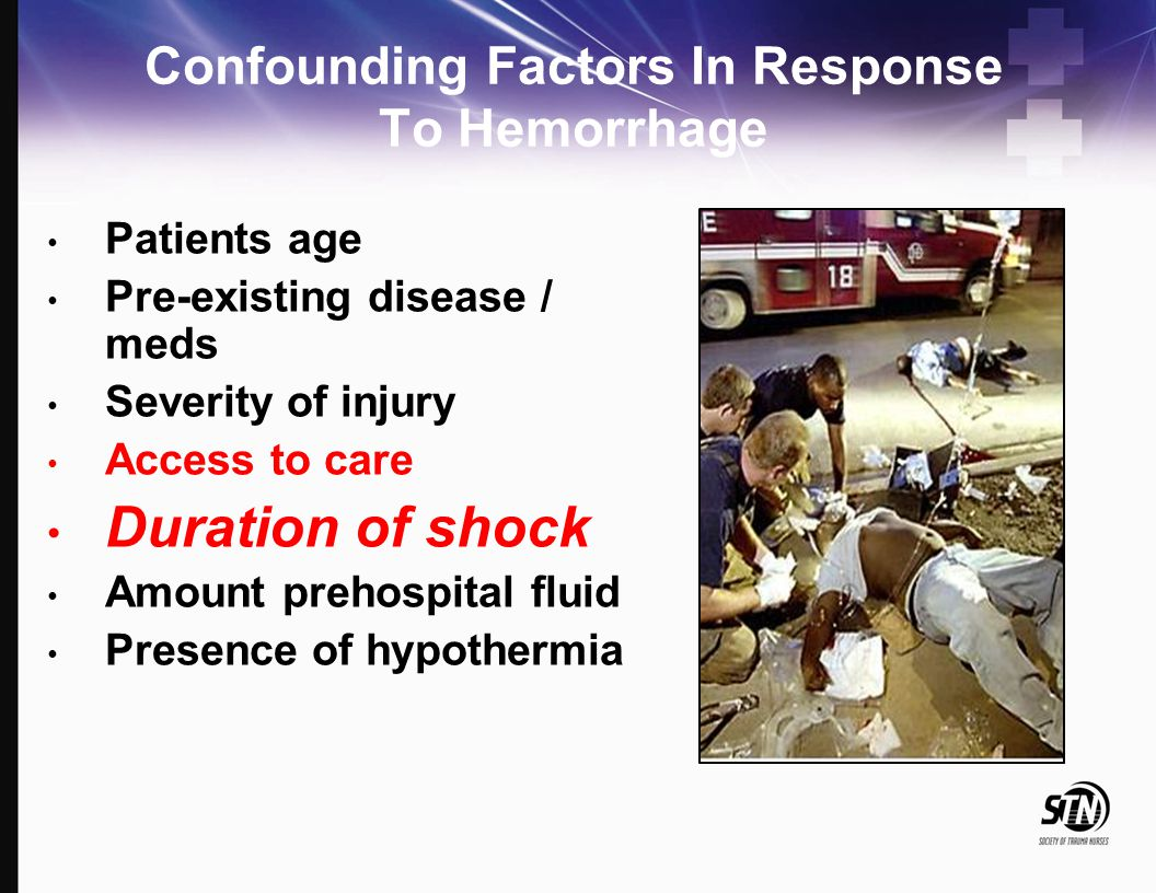 Confounding Factors In Response To Hemorrhage