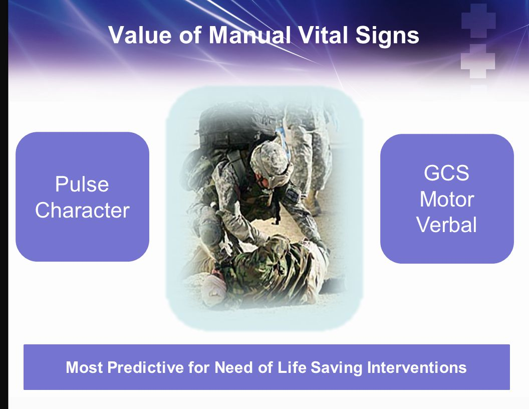 Value of Manual Vital Signs
