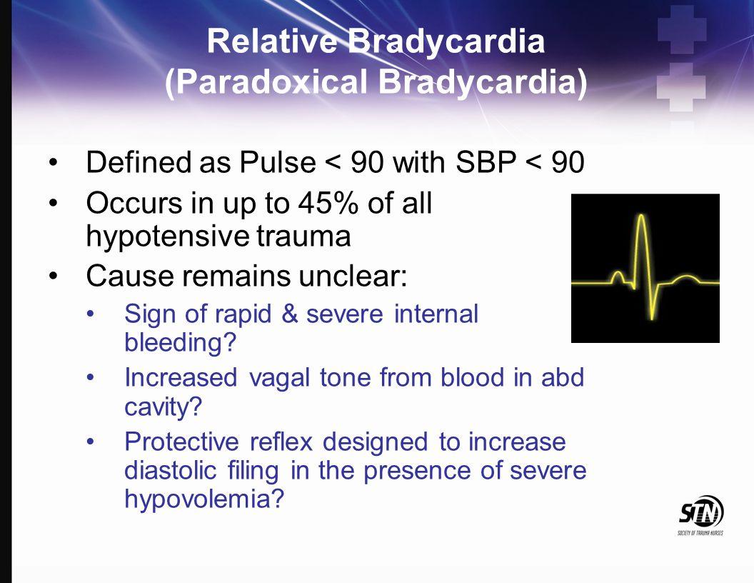 Relative Bradycardia (Paradoxical Bradycardia)
