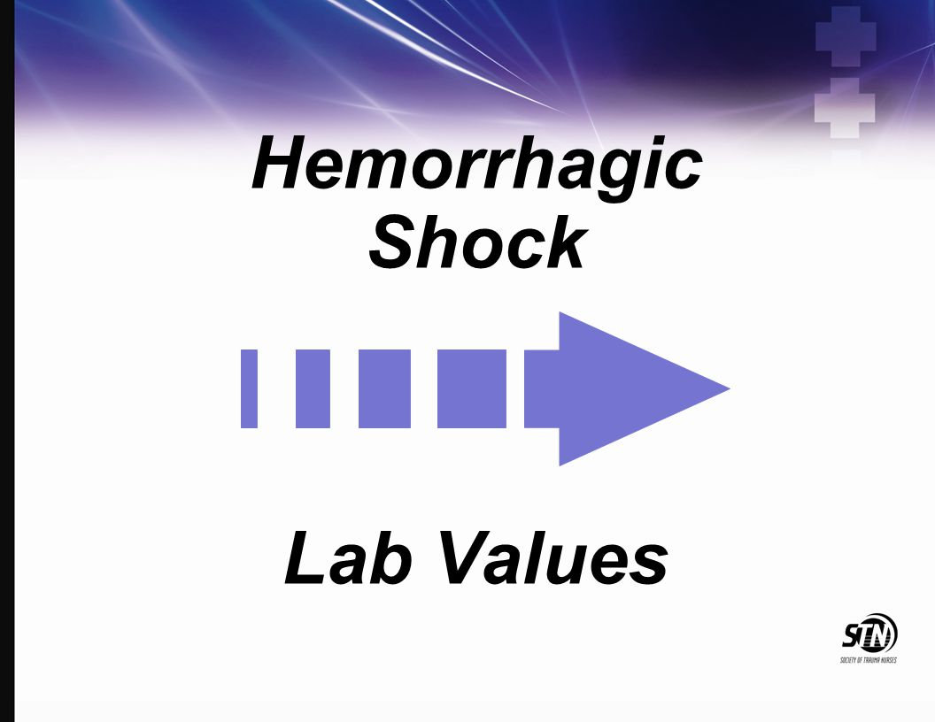 Hemorrhagic Shock Lab Values