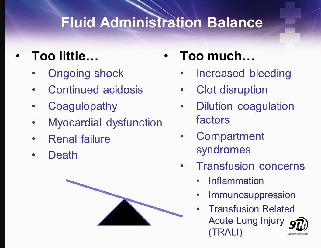 Fluid Administration Balance