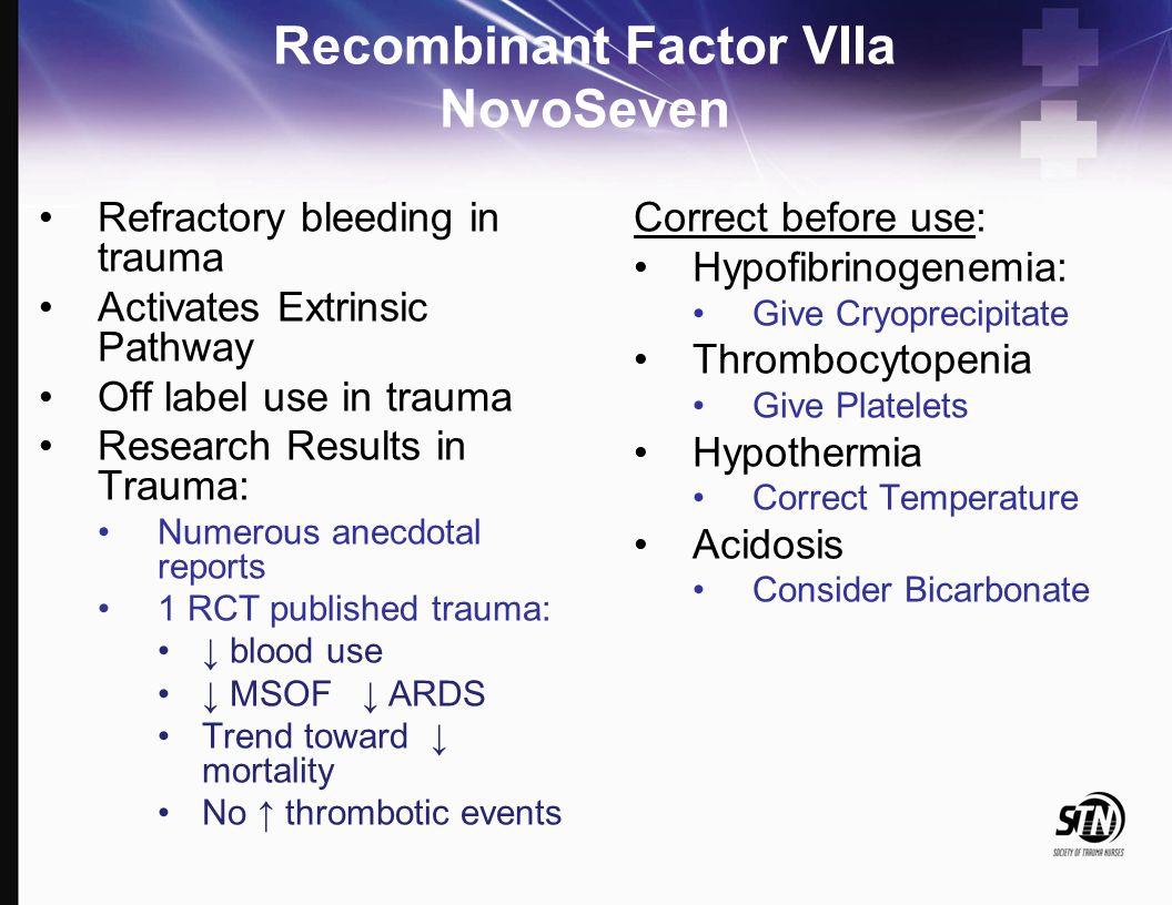 Recombinant Factor VIIa NovoSeven