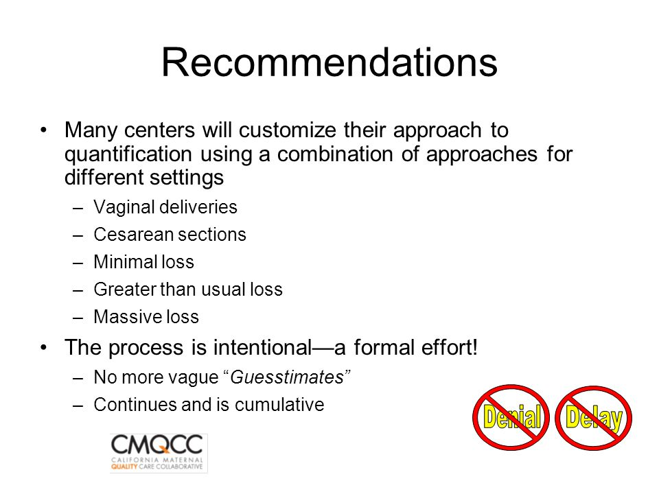 Recommendations Many centers will customize their approach to quantification using a combination of approaches for different settings.