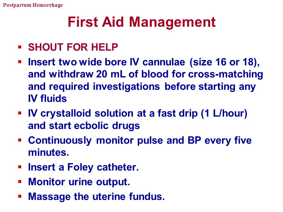 First Aid Management SHOUT FOR HELP