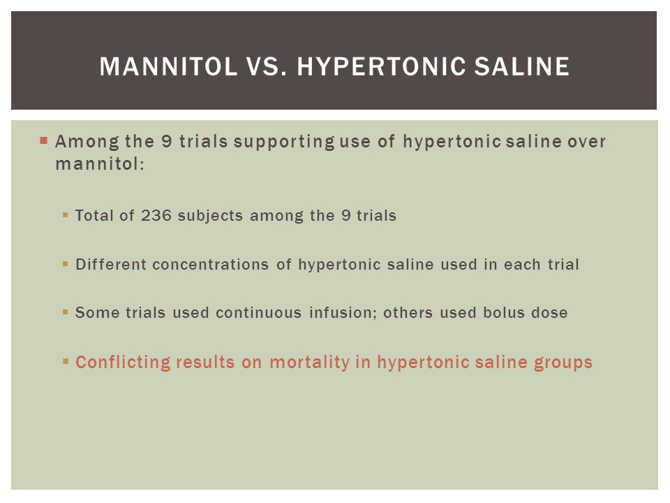 Mannitol and hypertonic saline in Subdural hematoma - ppt