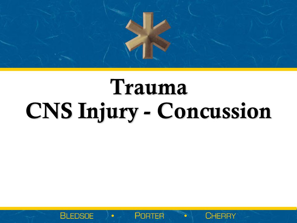 Trauma CNS Injury - Concussion