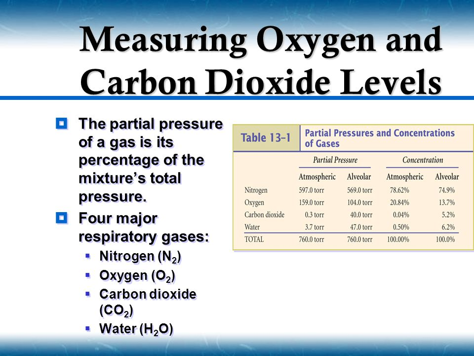 Measuring Oxygen and Carbon Dioxide Levels