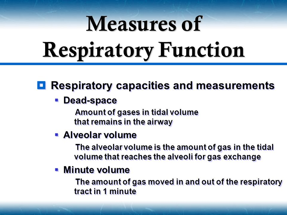 Measures of Respiratory Function