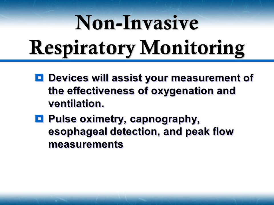 Non-Invasive Respiratory Monitoring