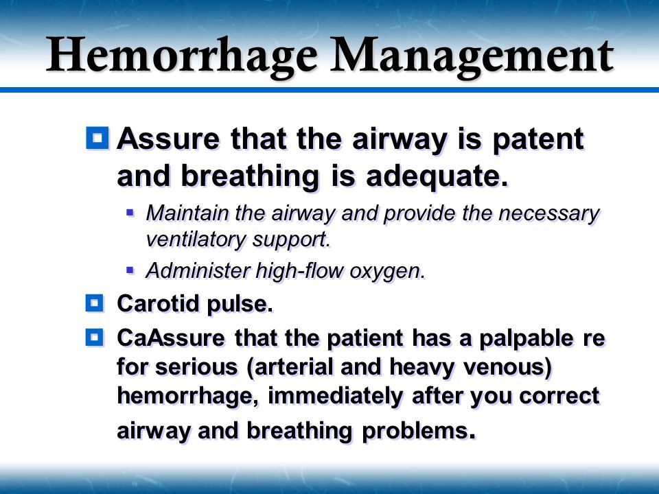 Hemorrhage Management