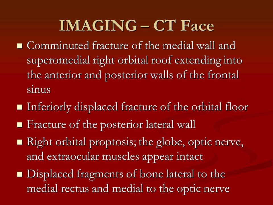 IMAGING – CT Face