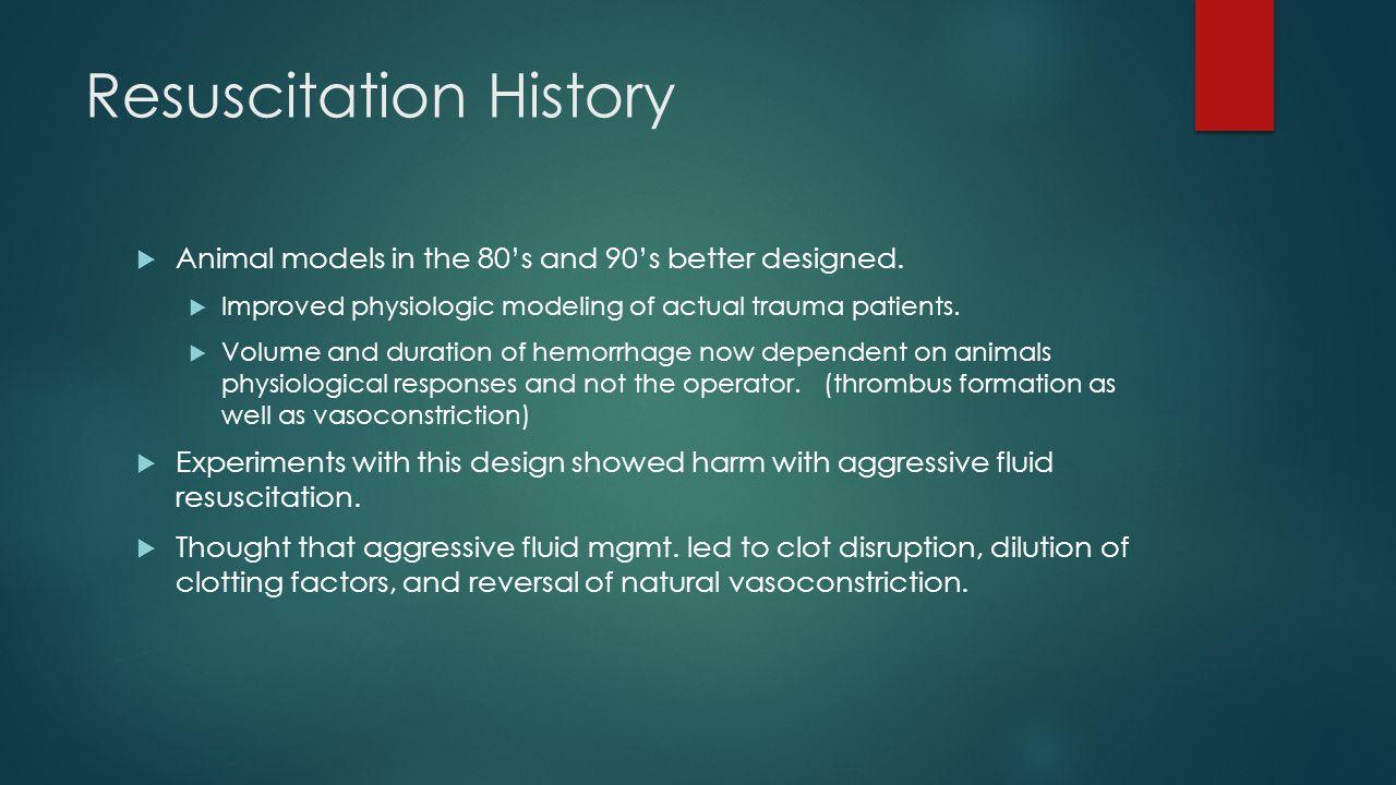 Resuscitation History