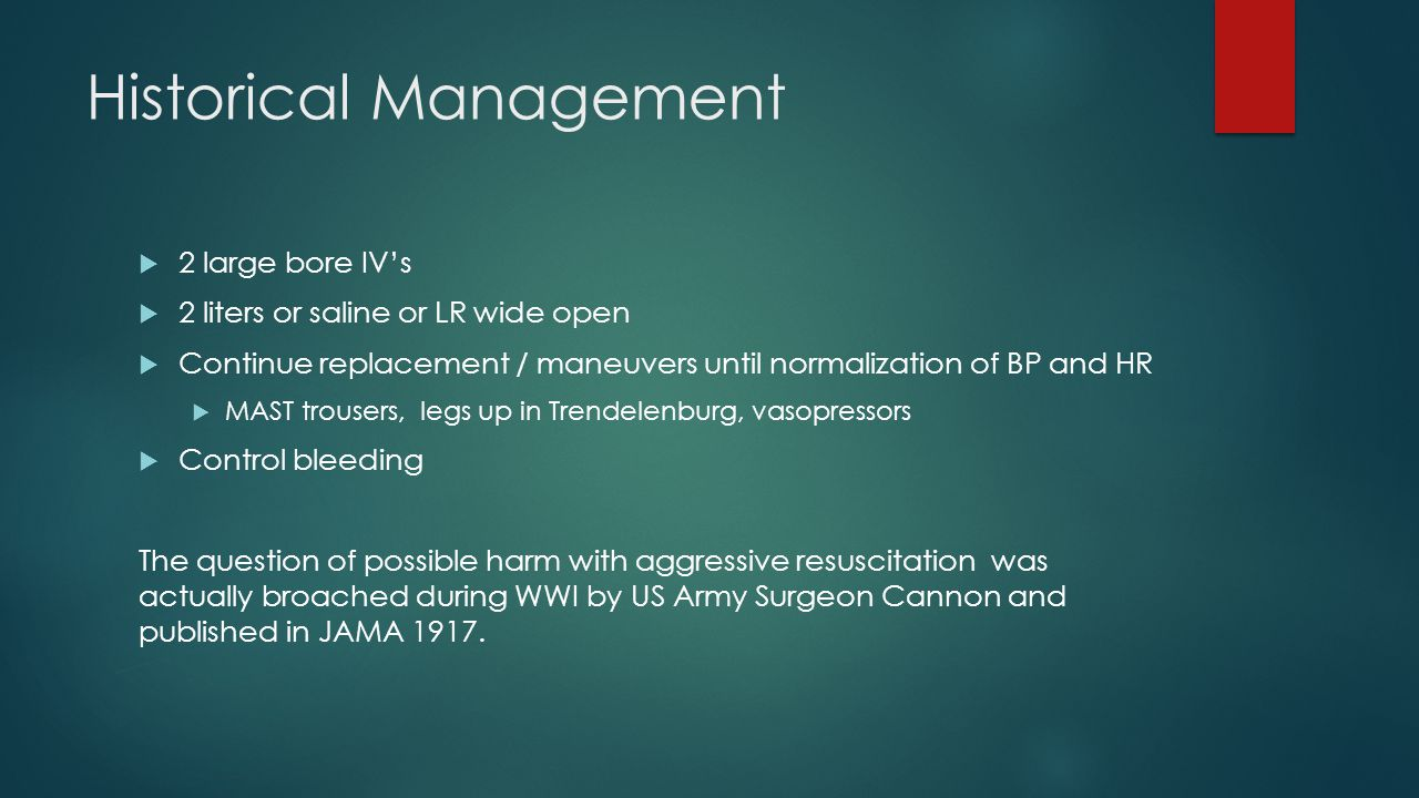 Historical Management