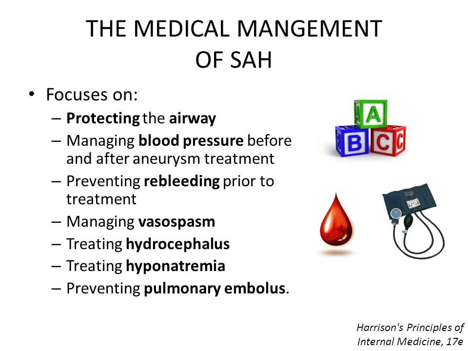 THE MEDICAL MANGEMENT OF SAH