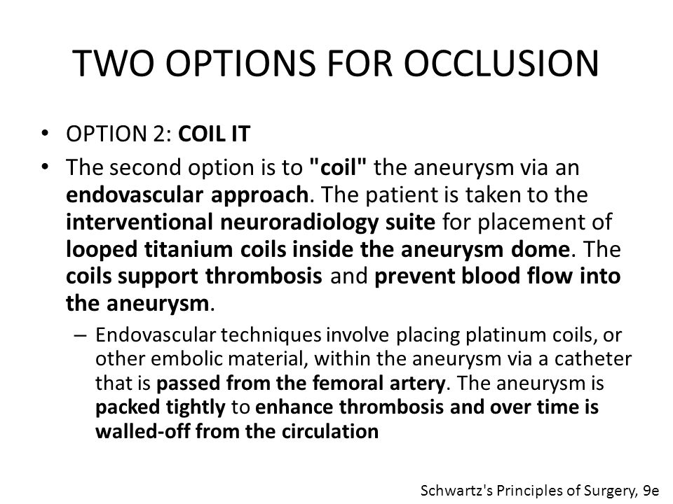 TWO OPTIONS FOR OCCLUSION