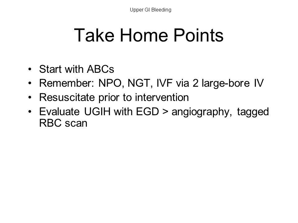 Take Home Points Start with ABCs