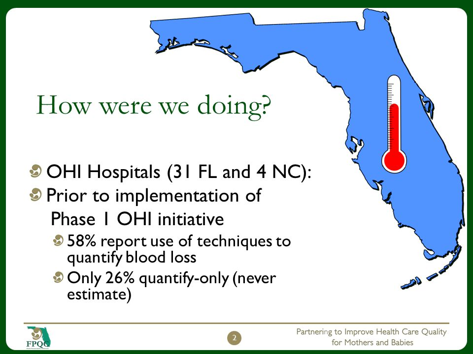 How were we doing OHI Hospitals (31 FL and 4 NC):