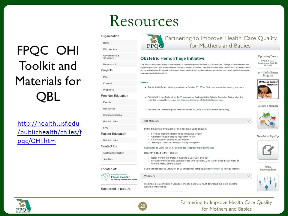 FPQC OHI Toolkit and Materials for QBL