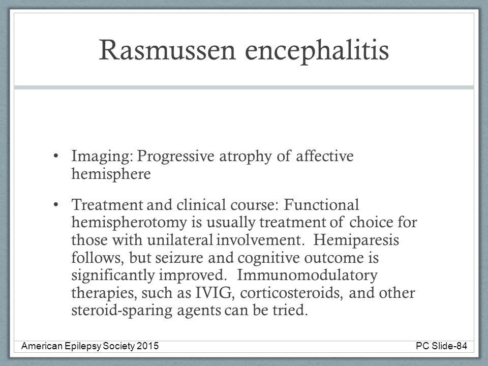 Rasmussen encephalitis