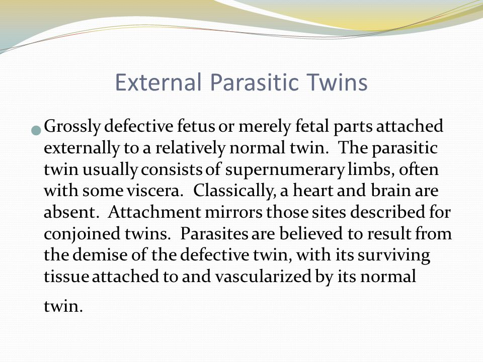 External Parasitic Twins