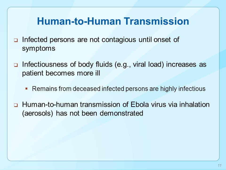 Human-to-Human Transmission