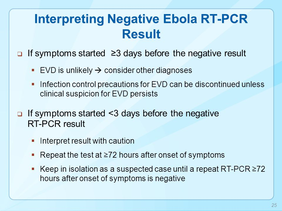 Interpreting Negative Ebola RT-PCR Result