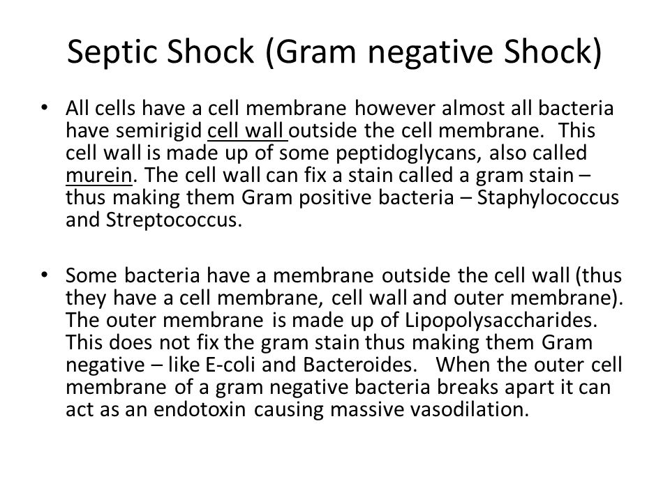 Septic Shock (Gram negative Shock)