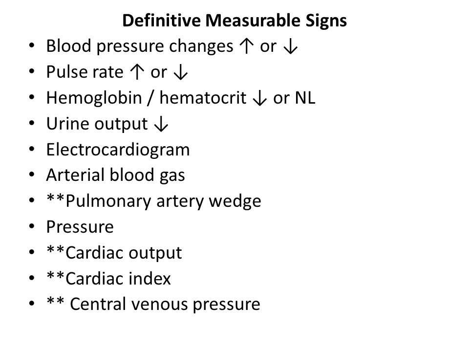 Definitive Measurable Signs