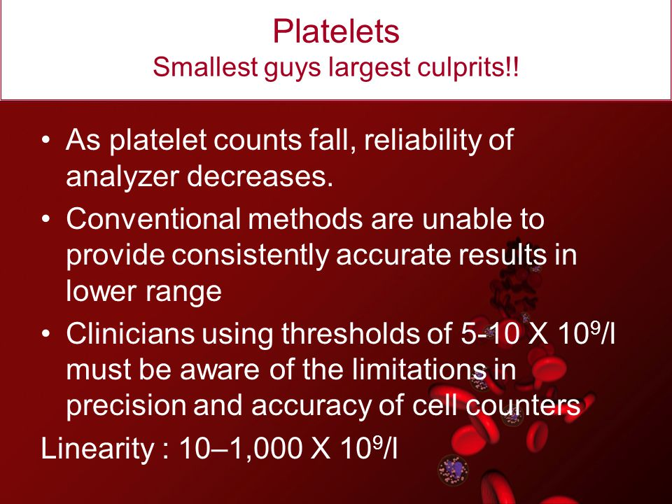 Platelets Smallest guys largest culprits!!