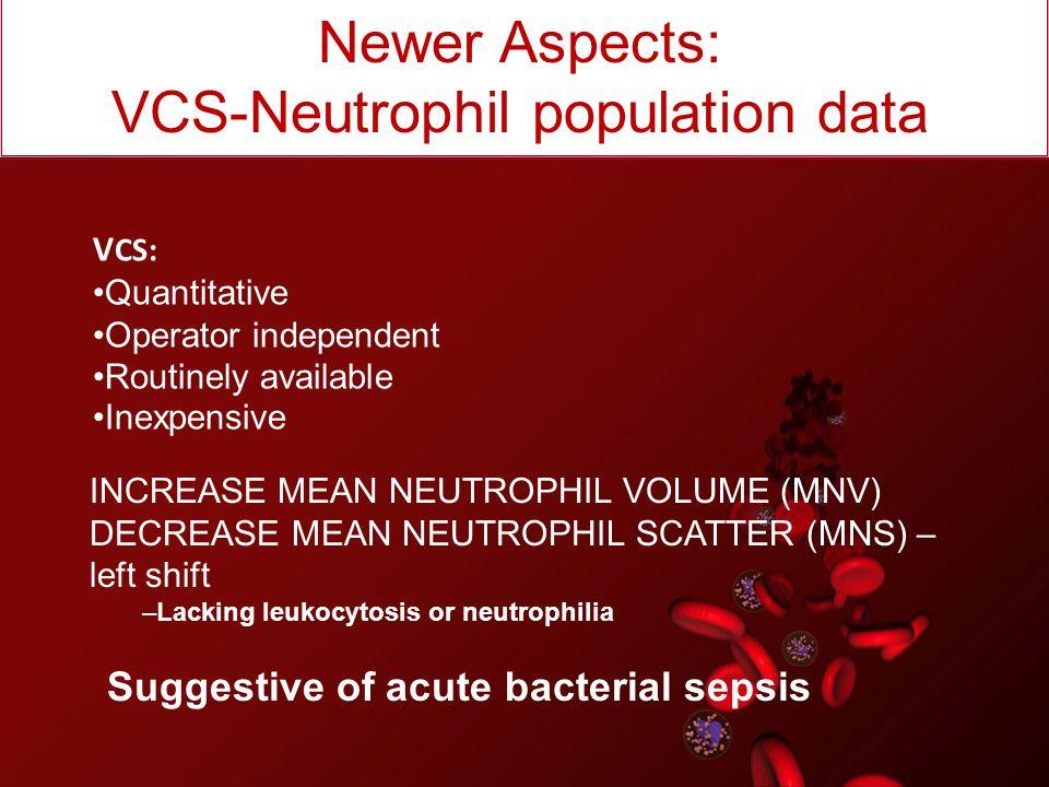 VCS-Neutrophil population data