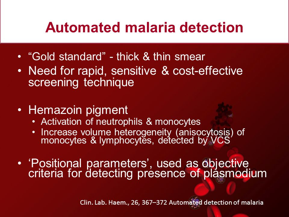 Automated malaria detection
