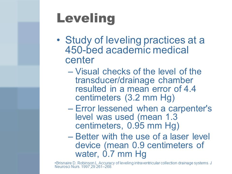 Leveling Study of leveling practices at a 450-bed academic medical center.