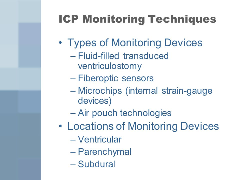 ICP Monitoring Techniques