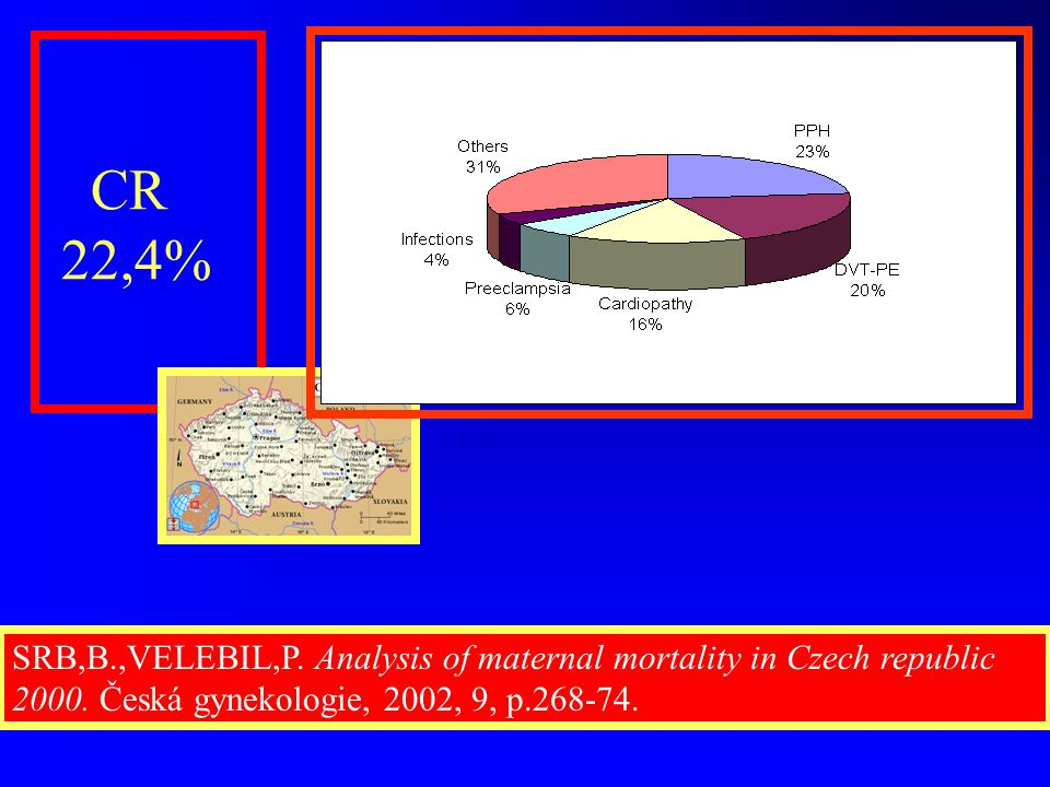 CR 22,4% SRB,B.,VELEBIL,P. Analysis of maternal mortality in Czech republic 2000.