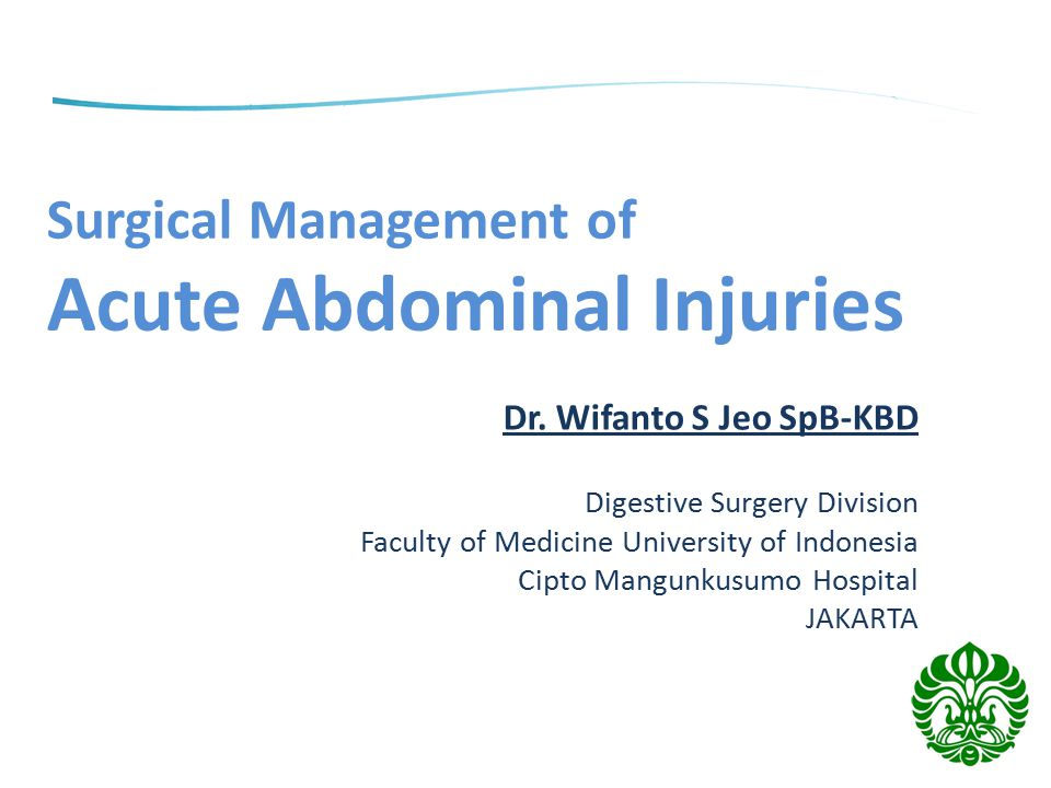 Surgical Management of Acute Abdominal Injuries