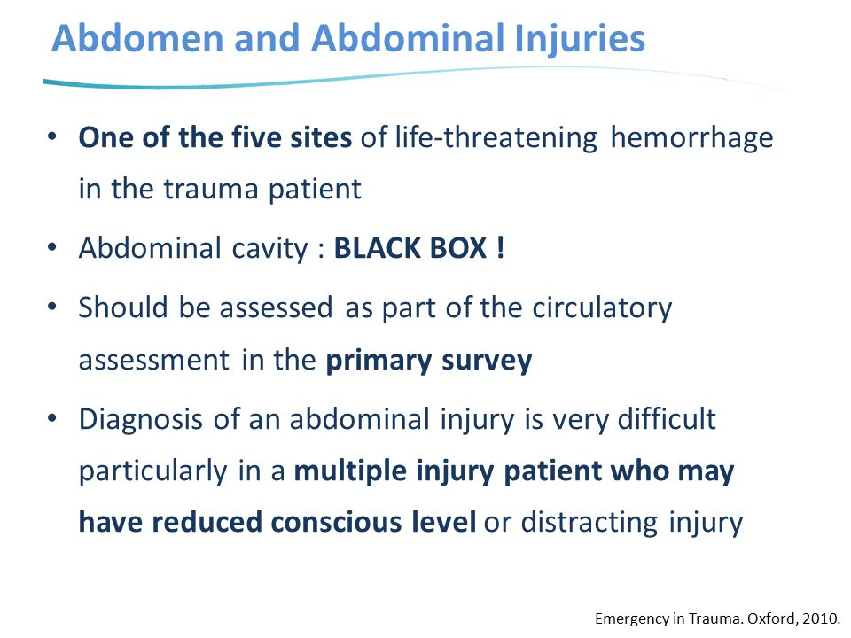 Abdomen and Abdominal Injuries
