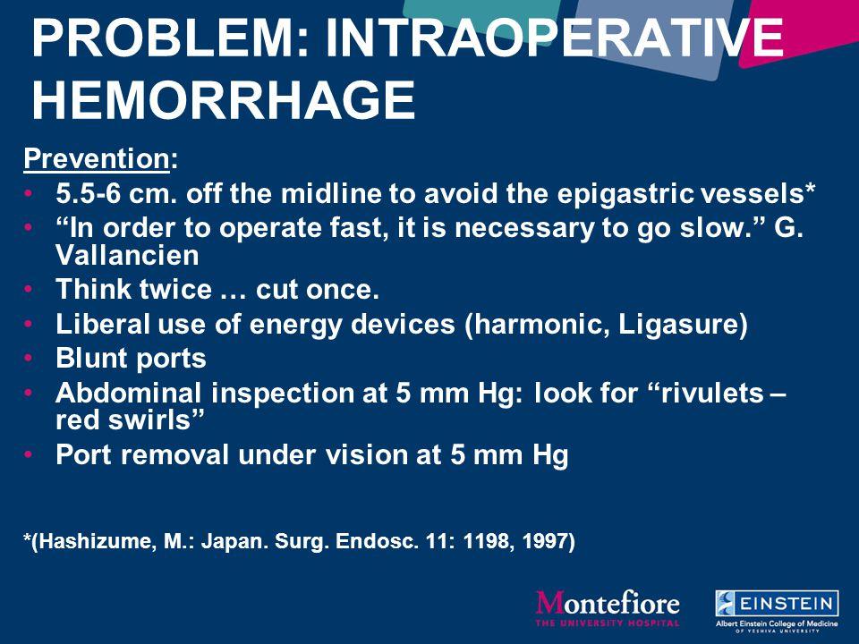 PROBLEM: INTRAOPERATIVE HEMORRHAGE