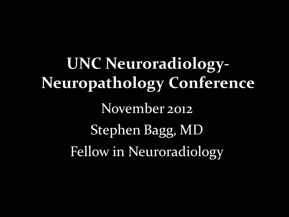 UNC Neuroradiology-Neuropathology Conference
