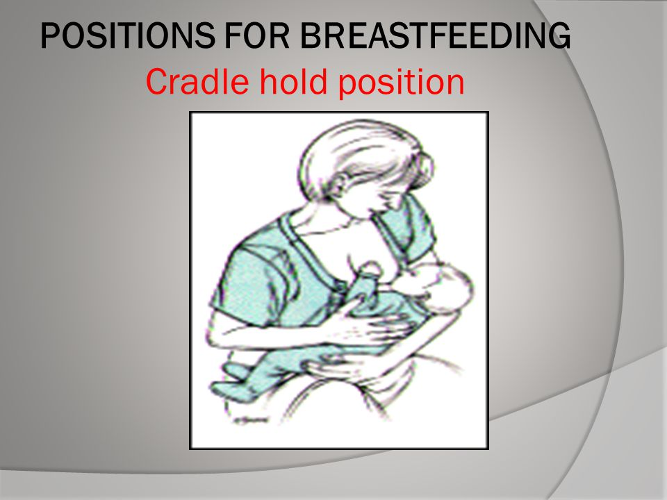POSITIONS FOR BREASTFEEDING Cradle hold position