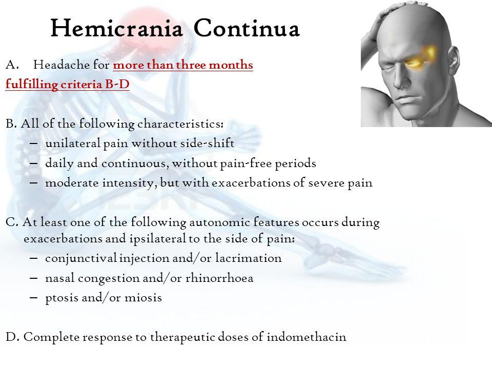 Hemicrania Continua Headache for more than three months
