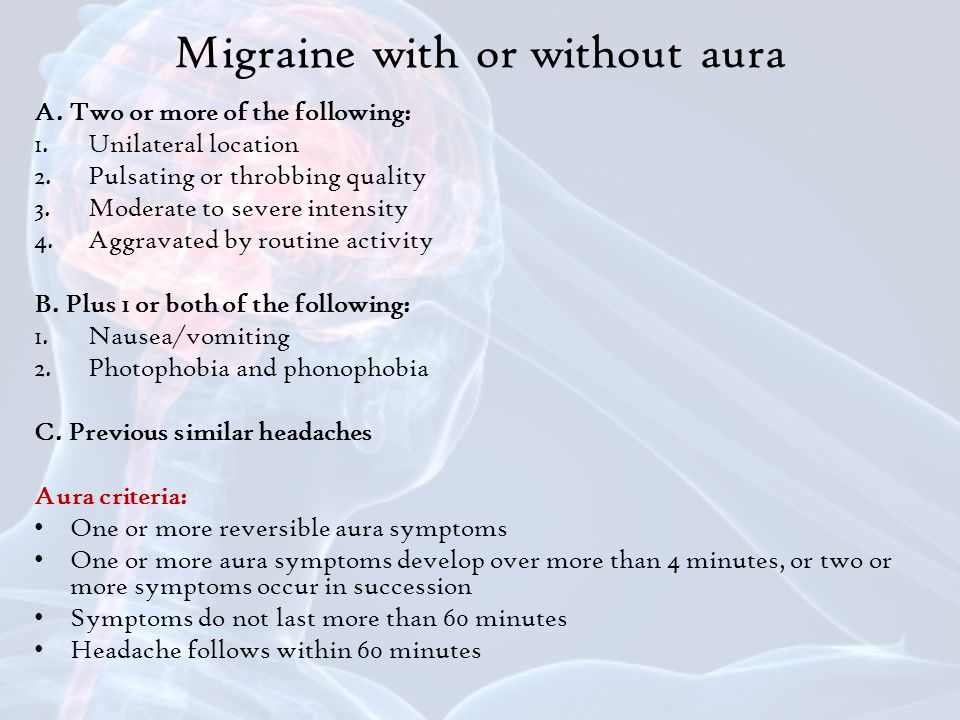 Migraine with or without aura