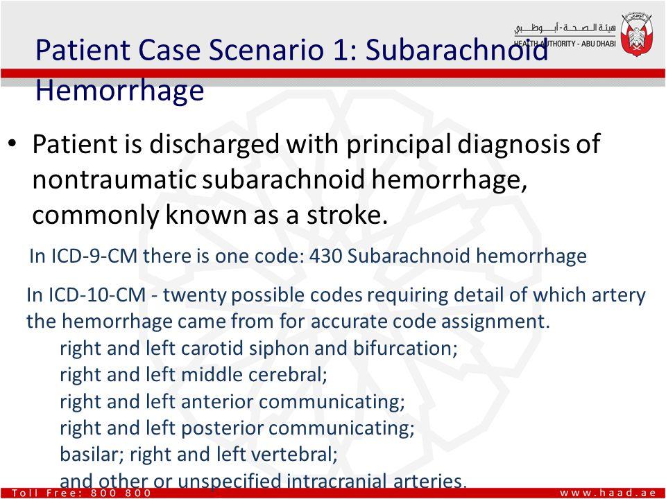 Patient Case Scenario 1: Subarachnoid Hemorrhage
