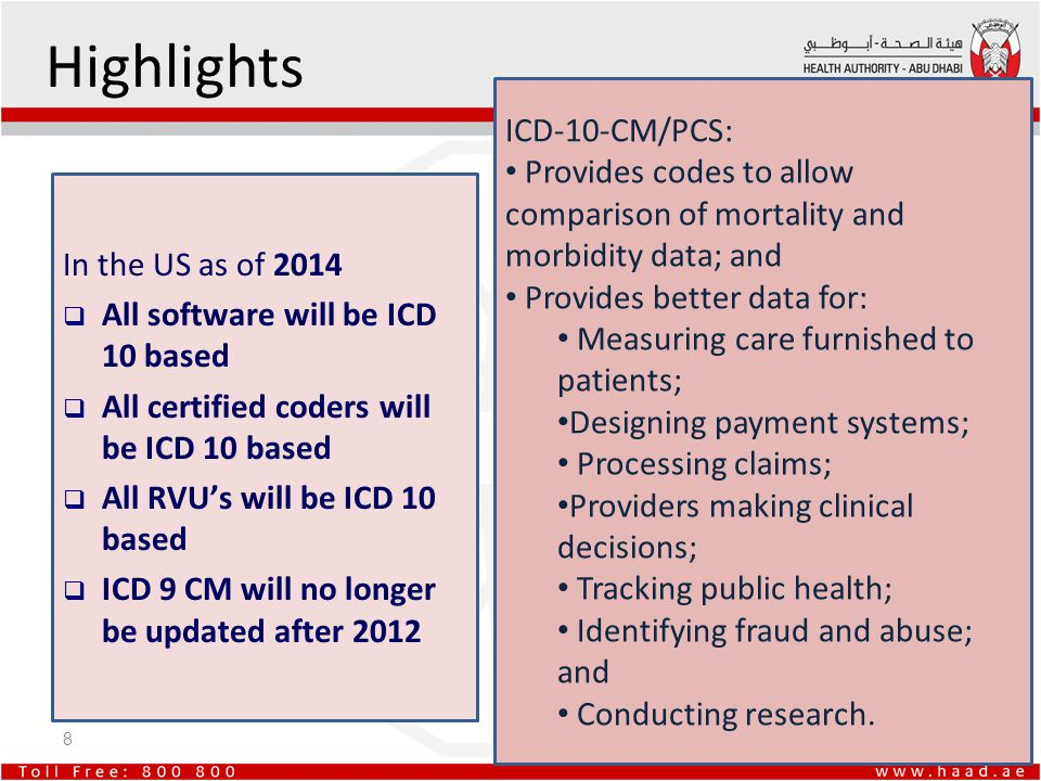 Highlights ICD-10-CM/PCS: