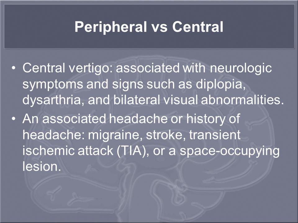 Peripheral vs Central