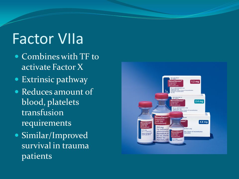 Factor VIIa Combines with TF to activate Factor X Extrinsic pathway