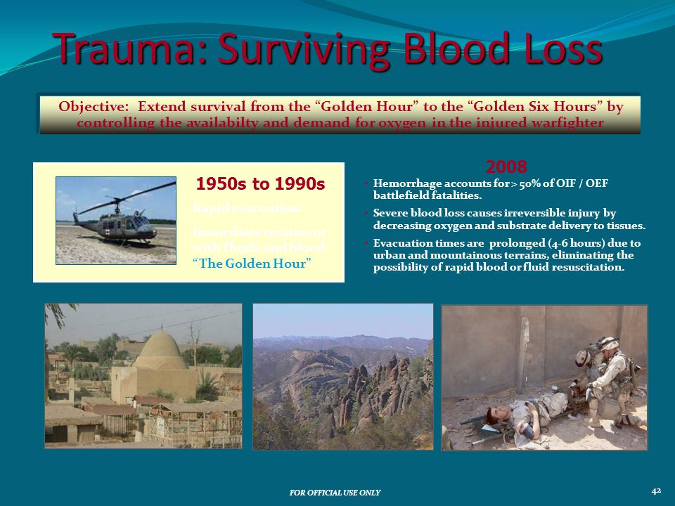 Trauma: Surviving Blood Loss